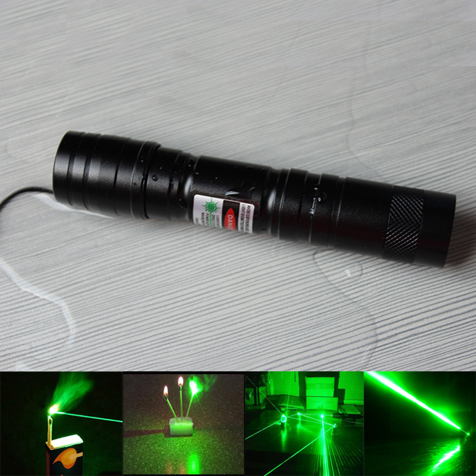 green 1000mw laser pointer light match